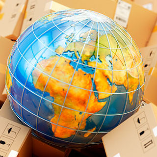 Globe and Boxes - Lead Image for Distributors Page