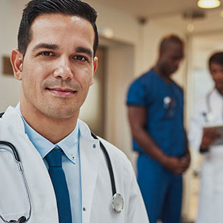 Inszone Insurance Healthcare and Social Services Page Banner - Doctors and Nurses Standing