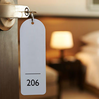 Hotel Room Number with Key - Lead Image for Hotels and Motels Page