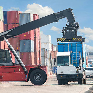 Inszone Insurance Inland Marine – Tools & Equipment (Contractors Equipment) Page Banner - Trucks Moving Storage Containers