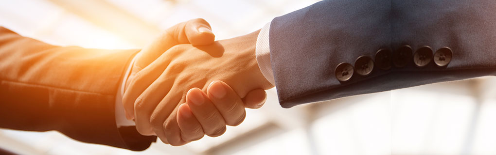 Inszone Insurance Our Partners Page Banner - Business Men Shaking Hands