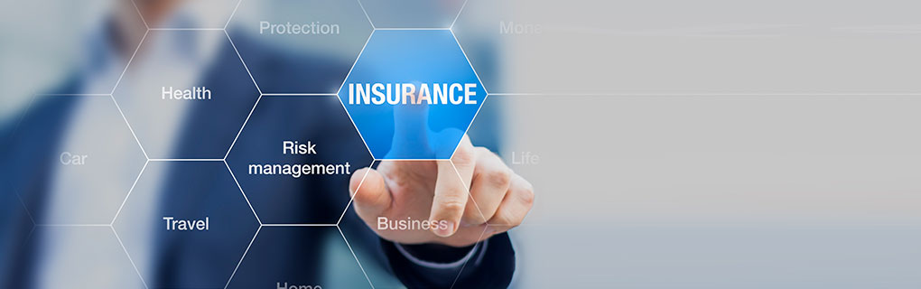 Inszone Insurance Products & Solutions Page Banner - Business Man Pointing Transparent Board