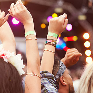Crowd Raising Hands While Watching Concert - Lead Image for Festivals Page