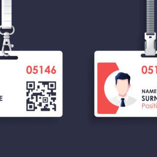 Blank Identification Card Graphics - Banner Image for Distinguishing Independent Contractors Vs. Employees Blog