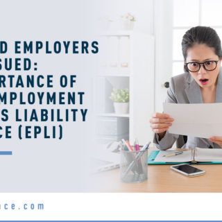 Banner Image for Even Good Employers Can Get Sued: The Importance of Having Employment Practices Liability Insurance (EPLI) Blog - Shocked Female Employee Holding a Paper