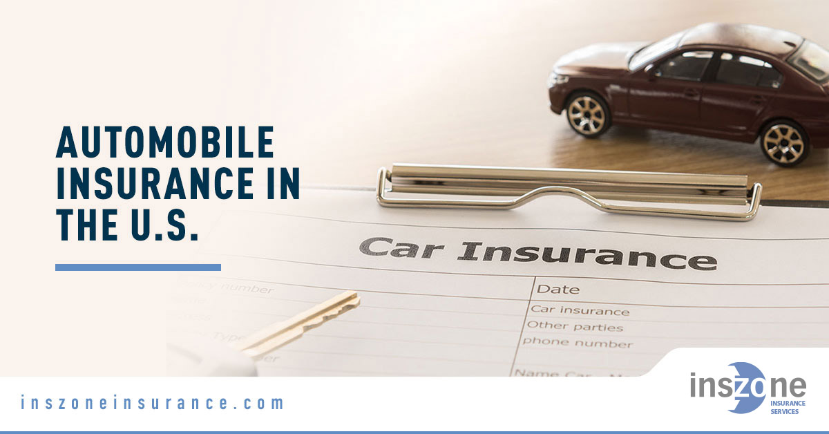 Car Insurance Form with Car - Banner Image for Automobile Insurance in the U.S. Blog