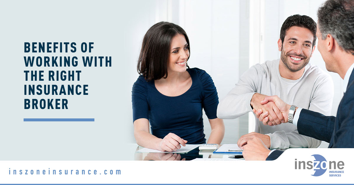 Couple Talking to Insurance Agent - Banner Image for Benefits of Working With the Right Insurance Broker Blog