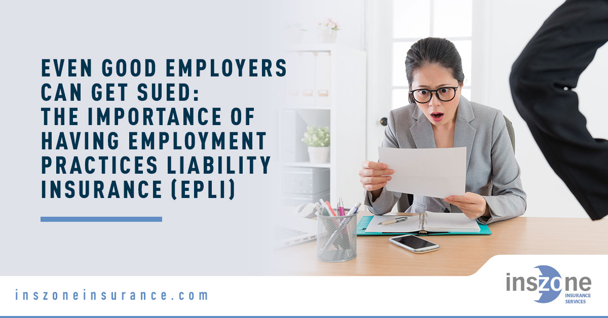 Shocked Female Employee - Banner Image for Even Good Employers Can Get Sued The Importance of Having Employment Practices Liability Insurance (EPLI) Blog