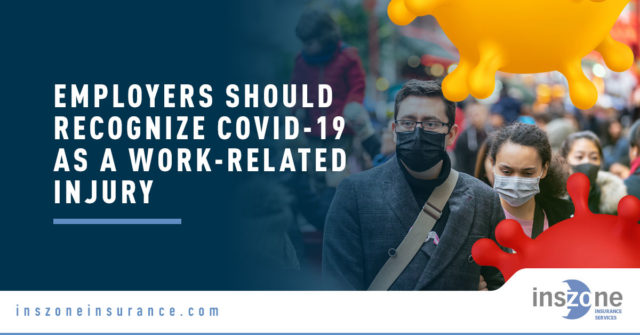 People Wearing Facemasks - Banner Image for [INFOGRAPHIC] Employers Should Recognize COVID-19 as a Work-Related Injury Blog