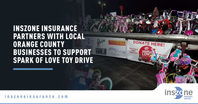 Inszone Insurance Partners with Local Orange County Businesses to Support Spark of Love Toy Drive