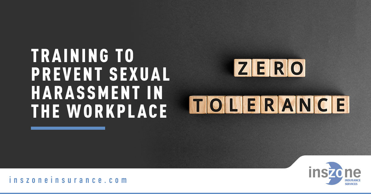 Zero Tolerance Text - Banner Image for Training to Prevent Sexual Harassment in the Workplace Blog