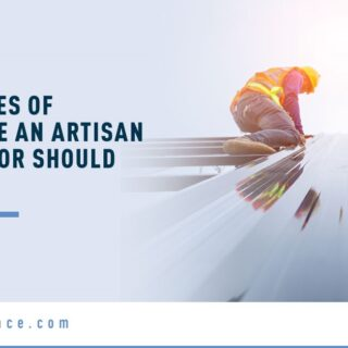 Roofers Working - Banner Image for What Types of Insurance An Artisan Contractor Should Consider Blog