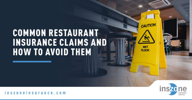 Caution Sign - Banner Image for Common Restaurant Insurance Claims and How to Avoid Them Blog