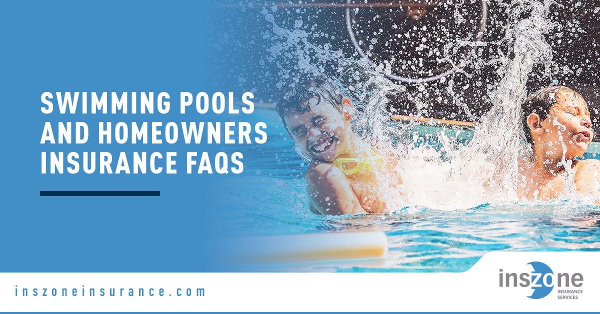 Kids on Swimming Pool - Banner Image for Swimming Pools and Homeowners Insurance FAQs Blog